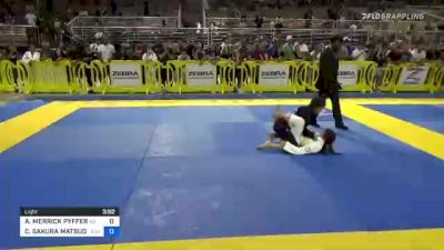 ADENA MERRICK PYFFER vs CANDICE SAKURA MATSUDA 2021 Pan Kids Jiu-Jitsu IBJJF Championship