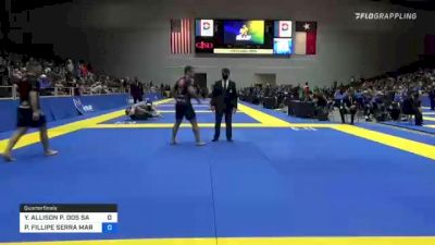YURI ALLISON P. DOS SANTOS vs PEDRO FILLIPE SERRA MARINHO 2021 World IBJJF Jiu-Jitsu No-Gi Championship