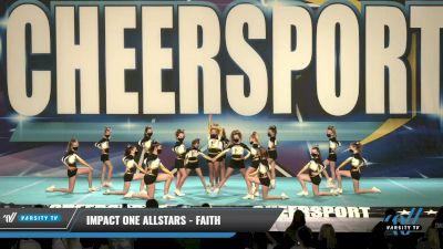 IMPACT ONE Allstars - FAITH [2021 L1.1 Youth - PREP Day 1] 2021 CHEERSPORT: Charlotte Grand Championship