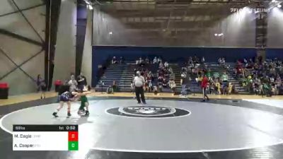 68 lbs Consolation - Maddox Cagle, Lumpkin County Park And Rec vs Andrew Cooper, PTC Youth Wrestling