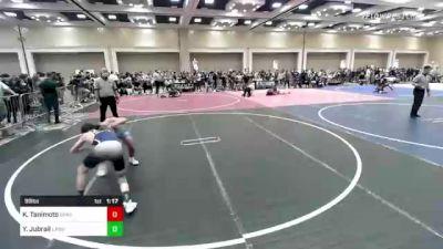 99 lbs Rr Rnd 2 - Kody Tanimoto, Spartan Mat Club vs Yousef Jubrail, Lawc