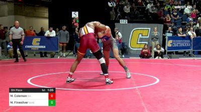 174 lbs 5th Place - Marcus Coleman, Iowa State vs Matt Finesilver, Duke