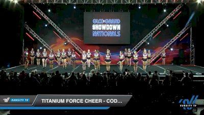 Titanium Force Cheer - Code Black [2020 L4 Senior - Medium Day 2] 2020 GLCC: The Showdown Grand Nationals