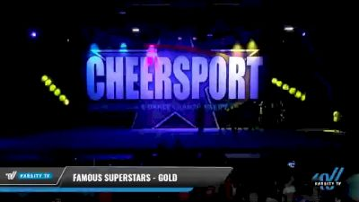 Famous Superstars - GOLD [2021 L6 Senior Coed - XSmall Day 2] 2021 CHEERSPORT National Cheerleading Championship
