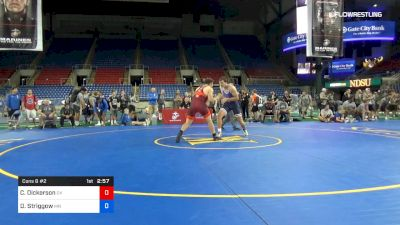 220 lbs Cons 8 #2 - Cabe Dickerson, Oklahoma vs Daniel Striggow, Minnesota