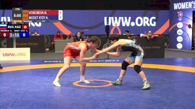 76 kg Bronze - Natalia Vorobeva, RUS vs Aiperi Medet Kyzy, KGZ
