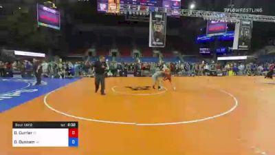 132 lbs Consi Of 8 #1 - Drew Currier, Connecticut vs Dyson Dunham, Virginia