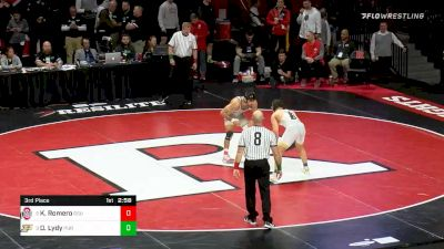 174 lbs 3rd Place - Kaleb Romero, Ohio State vs Dylan Lydy, Purdue