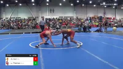 157 lbs Quarterfinal - David Carr, Iowa State vs Justin Thomas, Oklahoma