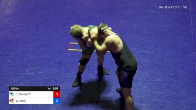 285 lbs Carter Isley vs Tate Orndorff