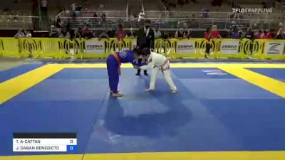 THIAGO RAFAEL AZEVEDO-CATTAN vs JARRED DABAN BENEDICTO 2021 Pan Kids Jiu-Jitsu IBJJF Championship