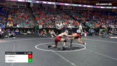 149 lbs Quarterfinal - Davion Jeffries, Oklahoma vs Jarrett Degen, Iowa State