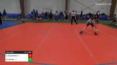 105 lbs Consolation - Christopher Cropanese, Princeton vs Max Alonso, Jefferson