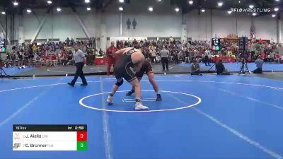 197 lbs Quarterfinal - Jay Aiello, Virginia vs Christian Brunner, Purdue