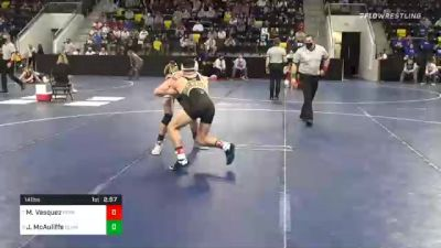 141 lbs Quarterfinal - Mario Vasquez, Ferrum College vs Jimmy McAuliffe, Elmhurst University