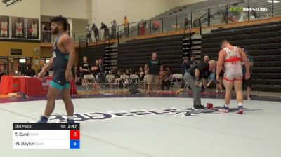 97 kg 3rd Place - Tyler Curd, Champion W.C. vs Nicholas Boykin, Sunkist Kids Wrestling Club