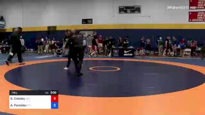 74 kg Round Of 64 - Sammy Cokeley, Indiana RTC vs Alec Pantaleo, Titan Mercury Wrestling Club (TMWC)