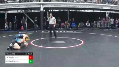 126 lbs Prelims - Stevo Poulin, Journeymen vs Brogan Fielding, Blackbelt Wrestling Carthage Hs