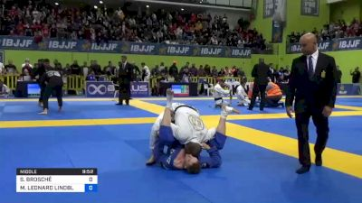 SEBASTIAN BROSCHÉ vs MAX LEONARD LINDBLAD 2020 European Jiu-Jitsu IBJJF Championship