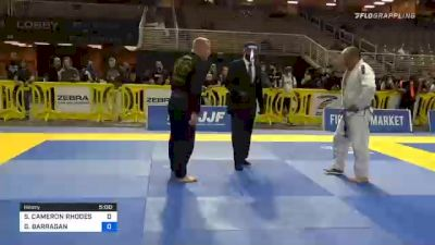STEVEN CAMERON RHODES vs GABRIEL BARRAGAN 2020 World Master IBJJF Jiu-Jitsu Championship