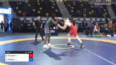 92 kg Quarterfinal - Beau Yineman, Wisconsin vs Kyven Gadson, Sunkist Kids Wrestling Club