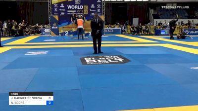 JOÃO GABRIEL DE SOUSA vs ALEXSSANDRO SODRÉ 2019 World IBJJF Jiu-Jitsu No-Gi Championship