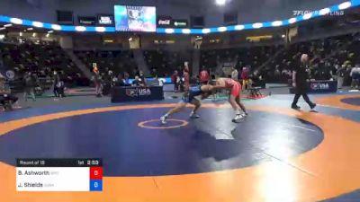 74 kg Prelims - Branson Ashworth, Wyoming Wrestling Reg Training Ctr vs Joshua Shields, Sunkist Kids Wrestling Club