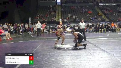 141 lbs Prelims - Justin Stickley, Iowa vs Zach Sherman, North Carolina