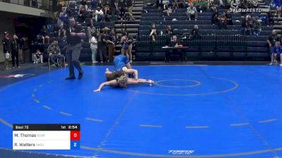 155 lbs Prelims - Megan Thomas, Schreiner vs Rachel Watters, Oklahoma City (W)