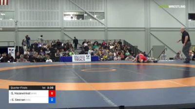 55 kg Quarterfinal - Sam Hazewinkel, Sunkist Kids Wrestling Club vs Sean Sesnan, Williams Baptist College