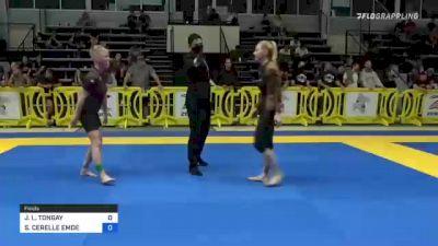 JANUARY L. TONGAY vs SHARON CERELLE EMDE 2021 Pan IBJJF Jiu-Jitsu No-Gi Championship