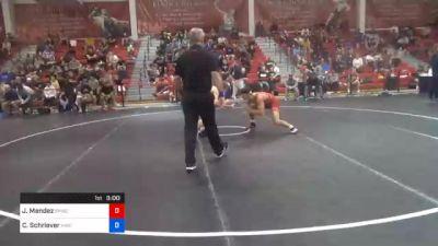 61 kg Semifinal - Jesse Mendez, Bulldog Premier Wrestling Club vs Cullan Schriever, Hawkeye Wrestling Club