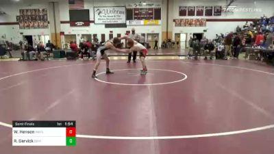 145 lbs Semifinal - Wyatt Henson, Waynesburg vs Ryan Garvick, Central Dauphin