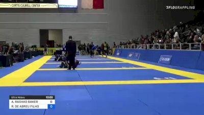 AUSTIN RASHAD BAKER vs ROBERTO DE ABREU FILHO 2021 World IBJJF Jiu-Jitsu No-Gi Championship