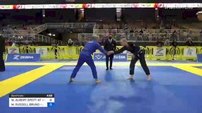 WILLIAM ALBERT SPOTT 4TH vs MARK RUSSELL BRUNO 2021 Pan Jiu-Jitsu IBJJF Championship
