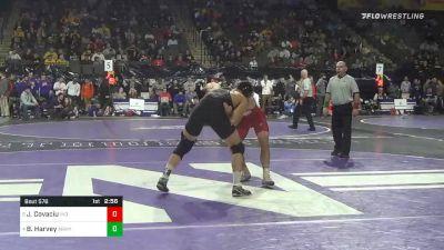 174 lbs Quarterfinal - Jacob Covaciu, Indiana vs Ben Harvey, Army West Point