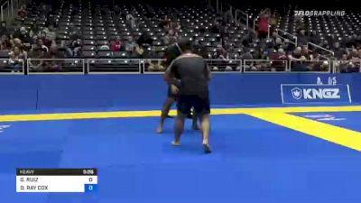 GIOVANNI RUIZ vs DAVID RAY COX 2021 World IBJJF Jiu-Jitsu No-Gi Championship