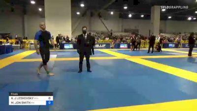 ANDREW J LESHOVSKY vs MICHAEL JON SMITH 2021 American National IBJJF Jiu-Jitsu Championship