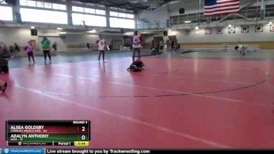 50 lbs Round 3 (4 Team) - Adalyn Anthony, Ohio vs Alsea Goldsby, Charlies Angels Pink