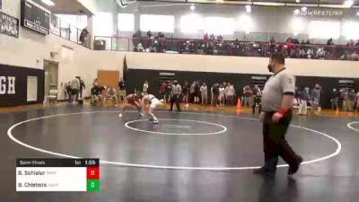 132 lbs Semifinal - Brennan Schisler, Bermudian Springs vs Brandan Chletsos, Notre Dame Green Pond
