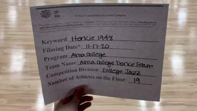 Alma College [College - Jazz] 2020 NDA November Virtual Championship
