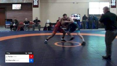 77 kg C-semis - Jesse Porter, NYAC vs Mason Manville, Nittany Lion Wrestling Club