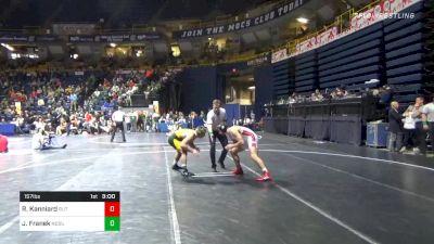 157 lbs Prelims - Robert Kanniard, Rutgers vs Jared Franek, North Dakota State