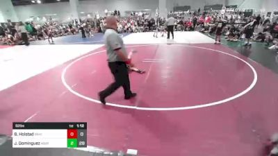 82 lbs Rr Rnd 3 - Brenden Holstad, Bracket Bullies vs Jacob Dominguez, Aggression