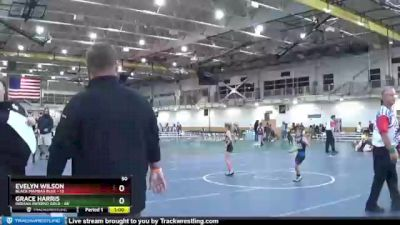 50 lbs Round 3 (4 Team) - Grace Harris, Indiana INFERNO GOLD vs Evelyn Wilson, Black Mambas Blue