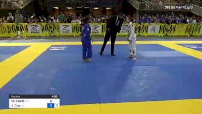 Mariana Sinval vs Jazlyn Diaz 2021 Pan Kids Jiu-Jitsu IBJJF Championship