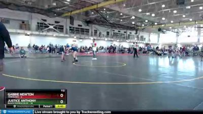 112 lbs Round 2 (4 Team) - Gabbie Newton, Tennessee vs Justice Anthony, Black Mambas Blue
