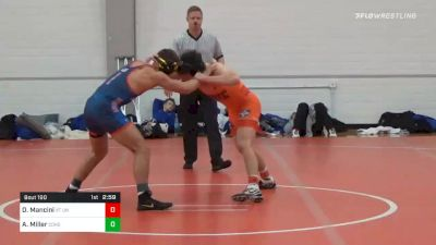 157 lbs Prelims - Daniel Mancini, VT Unattached vs Alex Miller, Coker Unattached