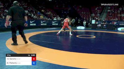 67 kg Quarters - Alejandro Sancho, Army (WCAP) vs Morgan Flaharty, New York Athletic Club