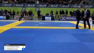 HANNAH KATHARINA RAUCH vs THAMARA FERREIRA SILVA 2020 European Jiu-Jitsu IBJJF Championship